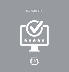 Best rating computer - flat minimal icon vector