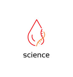 Blood and dna logo design template vector