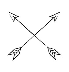 bow arrows crossed vector image