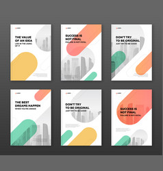 brochure cover design template for business vector image