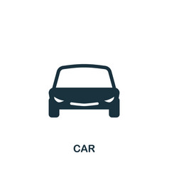 car icon in flat style icon design vector image