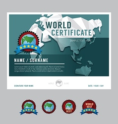 Certificate template layout background frame desig vector