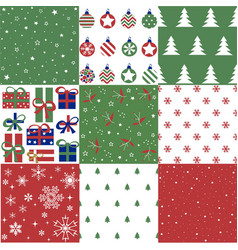 christmas patten set and vector image