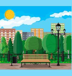 city park concept vector image