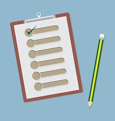 clipboard with check list and pencil vector image