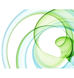 Color abstract lines vector image