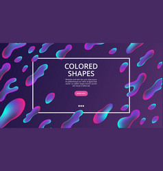 colored shapes web page liquid structures vector image