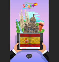 concept travel or studying spanish vector image