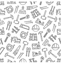 construction work tools seamless pattern vector image