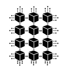 Contour cube with circuits network of communicatig vector