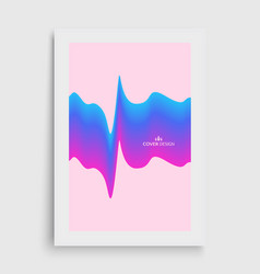 cover design template abstract wavy background vector image