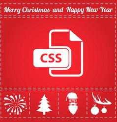 css icon vector image