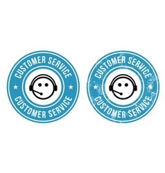 Customer service retro badges vector image