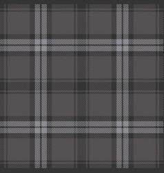 Dark grey plaid pattern vector