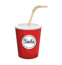 Delicious and cold soda theme design icon vector image