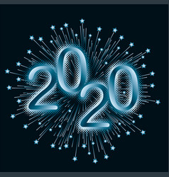 design element for christmass 2020 vector image