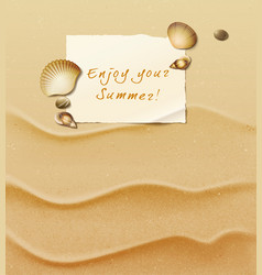 Enjoy your summer vector image