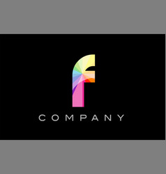 F alphabet letter mosaic design vector