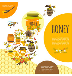 flat beekeeping colorful template vector image