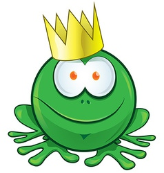 Frog cartoon on white background vector