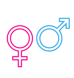 Gender male female icon symbol vector