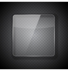 Glass Frame on Abstract Transparent Background vector image