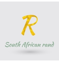 Golden Symbol of South Africa Rand vector