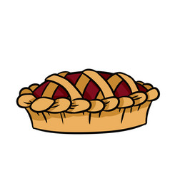 hand drawn doodle pie icon vector image