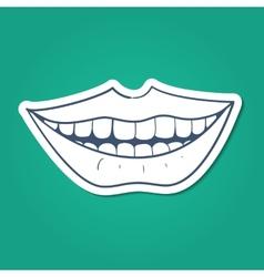 Healthy teeth smile vector image
