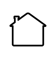 home house building real estate icon vector image