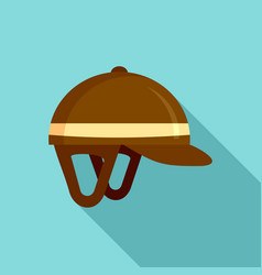 Horseback riding helmet icon flat style vector