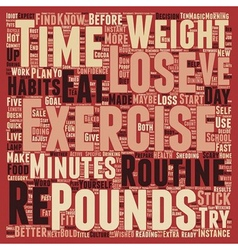 How To Stick To A Routine To Lose 10 Pounds text vector image