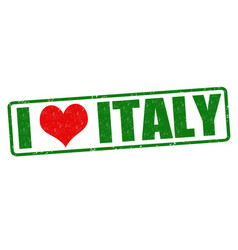 I love italy stamp vector