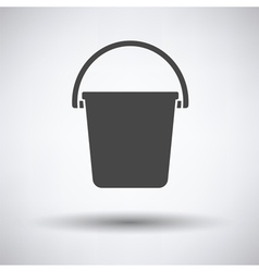 Icon of bucket vector image