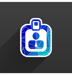 Identification card icon profile search vector