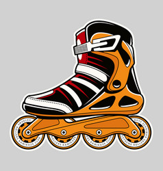 Inline roller skate art vector