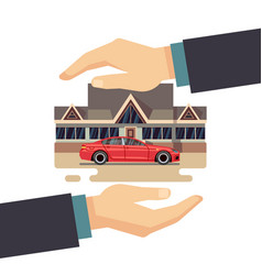 Insurance business concept protect vector