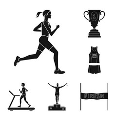 isolated object of health and fitness icon vector image