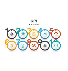 Kpi infographic design template optimization vector