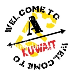 Kuwait stamp rubber grunge vector