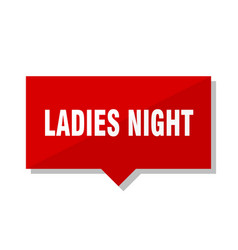 Ladies night red tag vector
