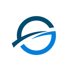 letter g logo icon concept vector image