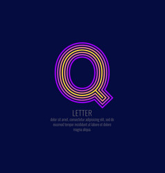 modern linear logo and sign letter q vector image