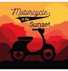 motorcycle rider design vector image