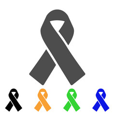 mourning ribbon flat icon vector image