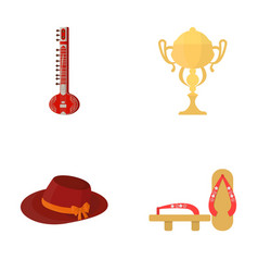 music sports textiles and other web icon in vector image
