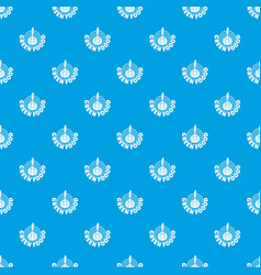 onion pattern seamless blue vector image