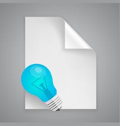 Paper symbol lamp vector