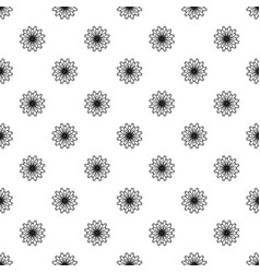 petal flower pattern seamless vector image