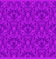 Purple polygonal floral triangle pattern vector